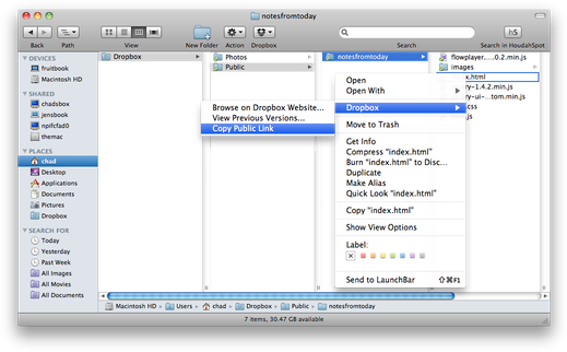 how to get dropbox to appear in finder
